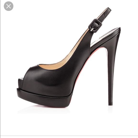 5563028fcb Christian Louboutin Shoes | Black Sling Back Heels | Poshmark